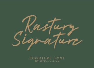 Rastury Signature Font
