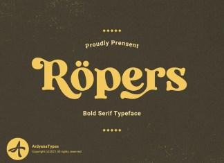 Ropers Serif Font