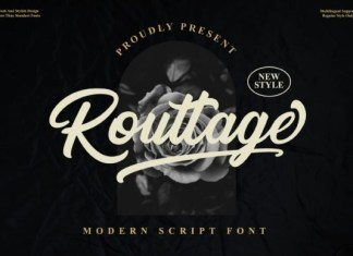 Routtage Brush Font