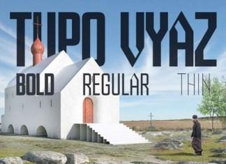 Tupo Vyaz Display Font