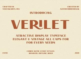 Verilate Sans Serif Font