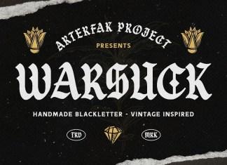 Warsuck Blackletter Font
