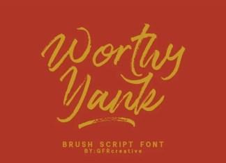 Worthy Yank Brush Font