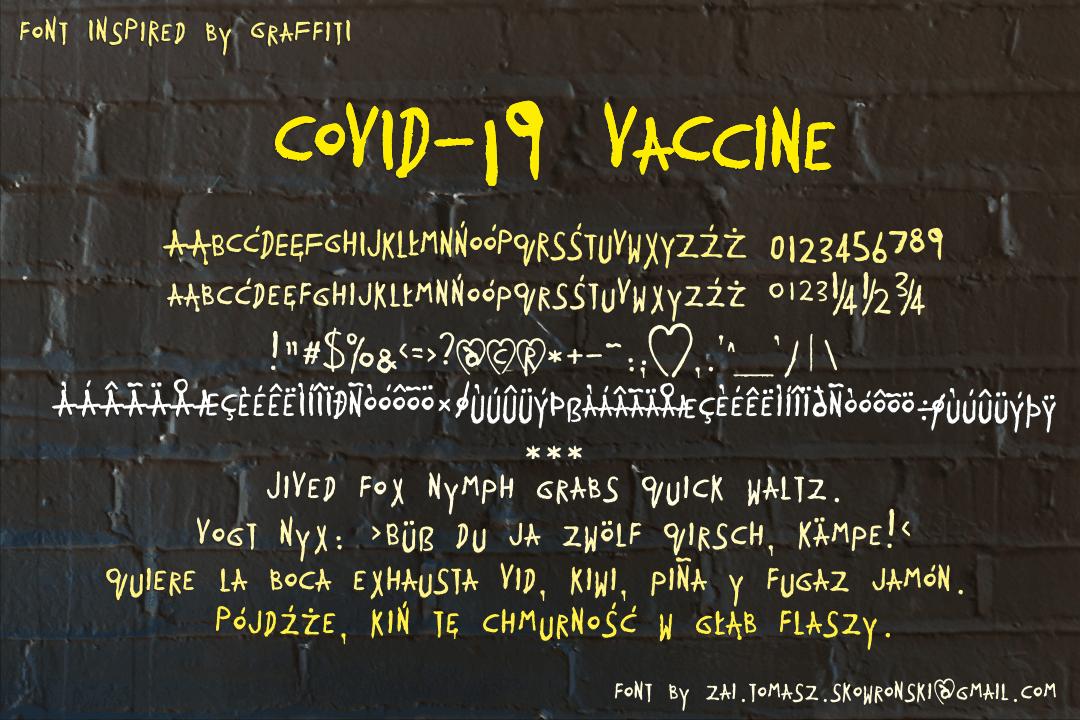 COVID-19 VaCcine Font