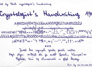 Cryptologist's Handwriting 1905 Font