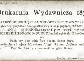 Drukarnia Wydawnicza 1870 Font