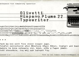 Olivetti Hispano Pluma 22 Typewriter Font