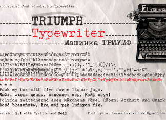 Triumph Typewriter Font