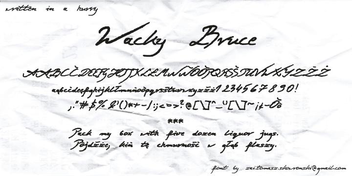Wacky Bruce Font