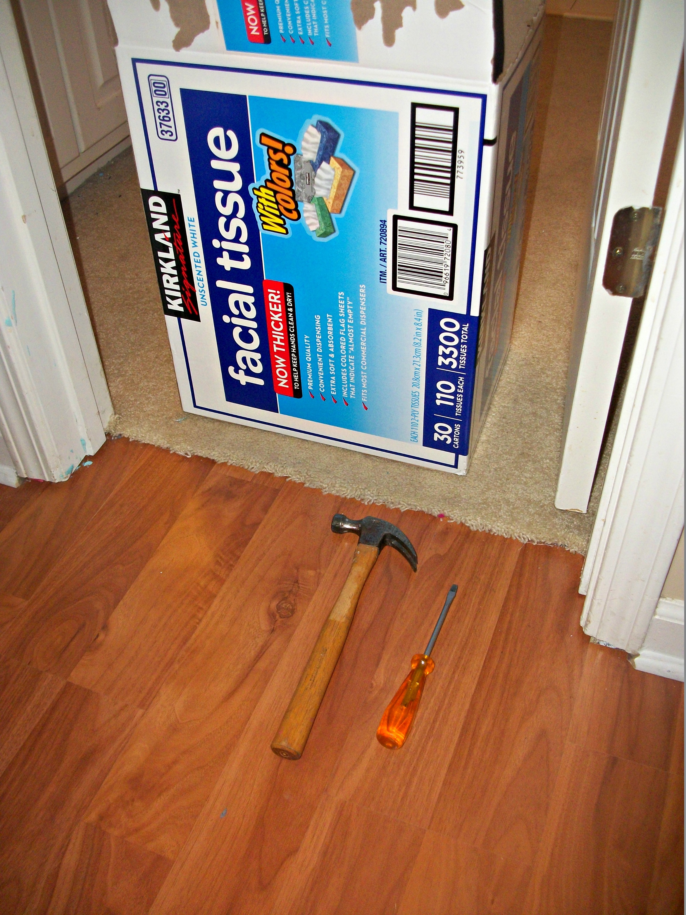 DIY Home Repair: Inexpensive Bathroom Flooring - Before 3 pm