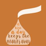 orange kiss a day printable