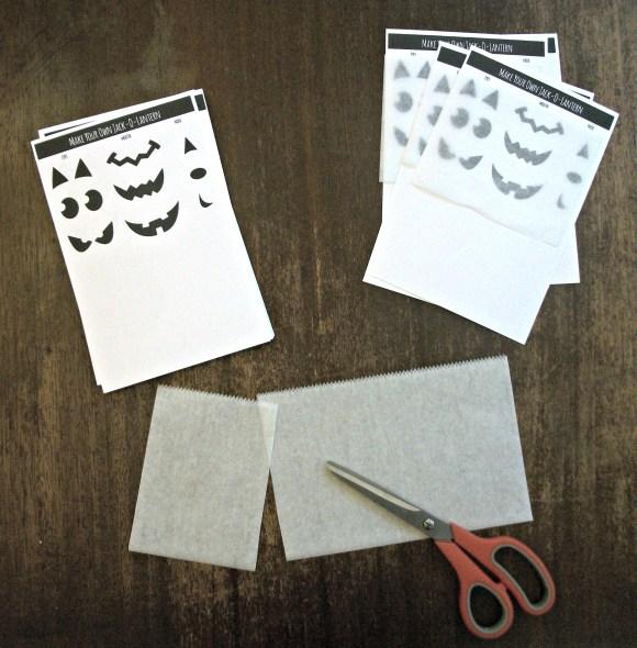 cut wax paper