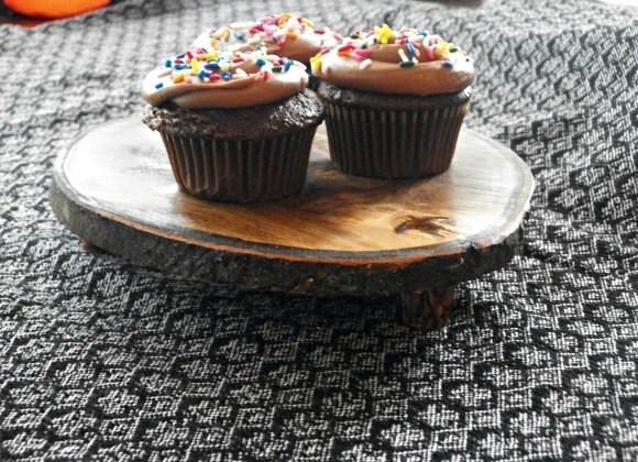 cupcake stand closeup