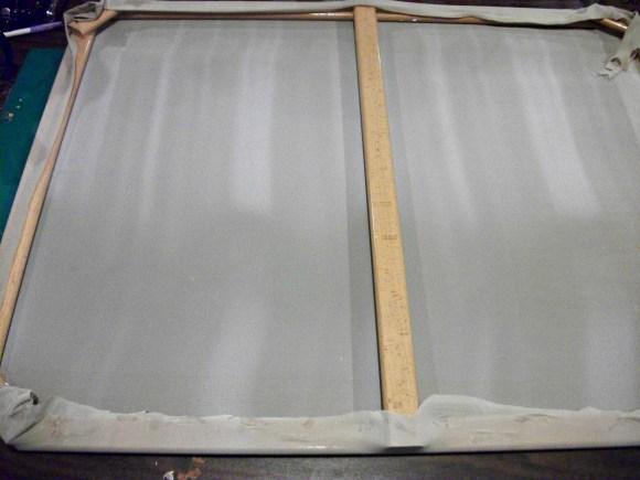 Curtain hot glued on