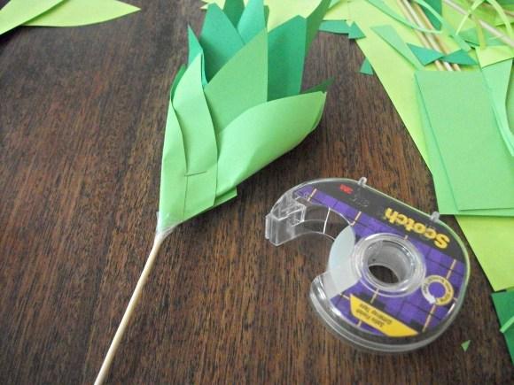 tape to skewer