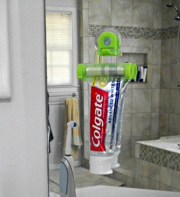 Hanging toothpaste squeezer would be a great stocking stuffer!