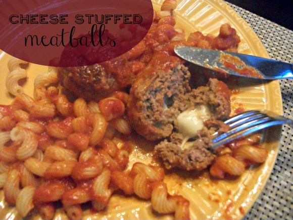 Homemade meatballs stuffed with cheese make for a surprisingly quick weeknight dinner. Before3pm.com