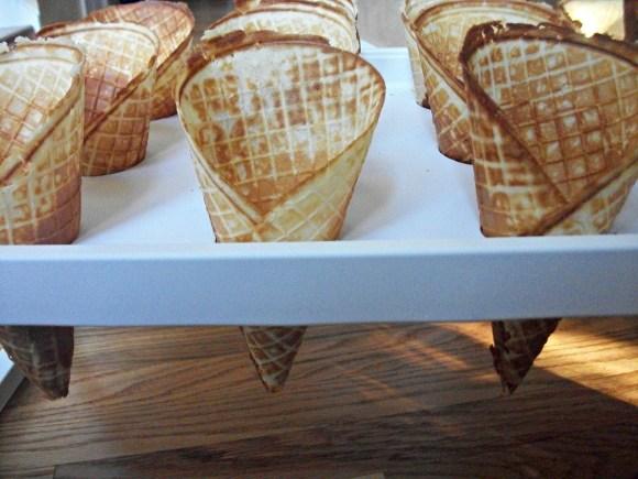 DIY waffle cone tray using IKEA bed tray. Before3pm.com