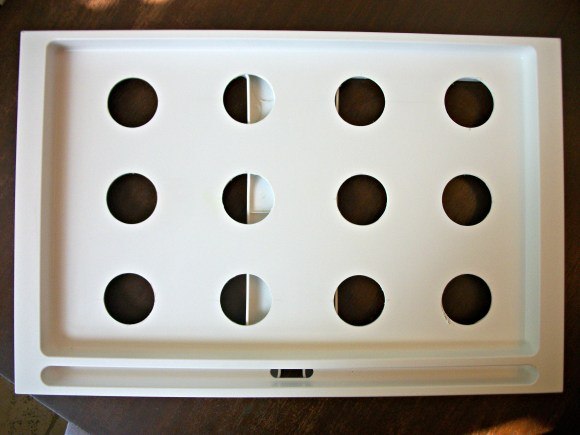 DIY waffle cone tray using IKEA bed tray. Before3pm.com