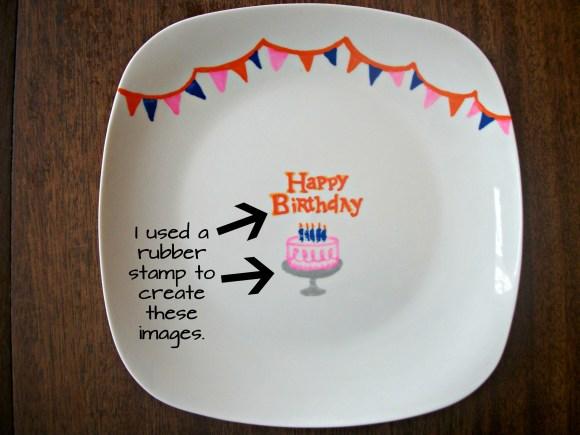 DIY Birthday Plate. Before3pm.com