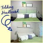 DIY Folding Headboard. Before3pm.com