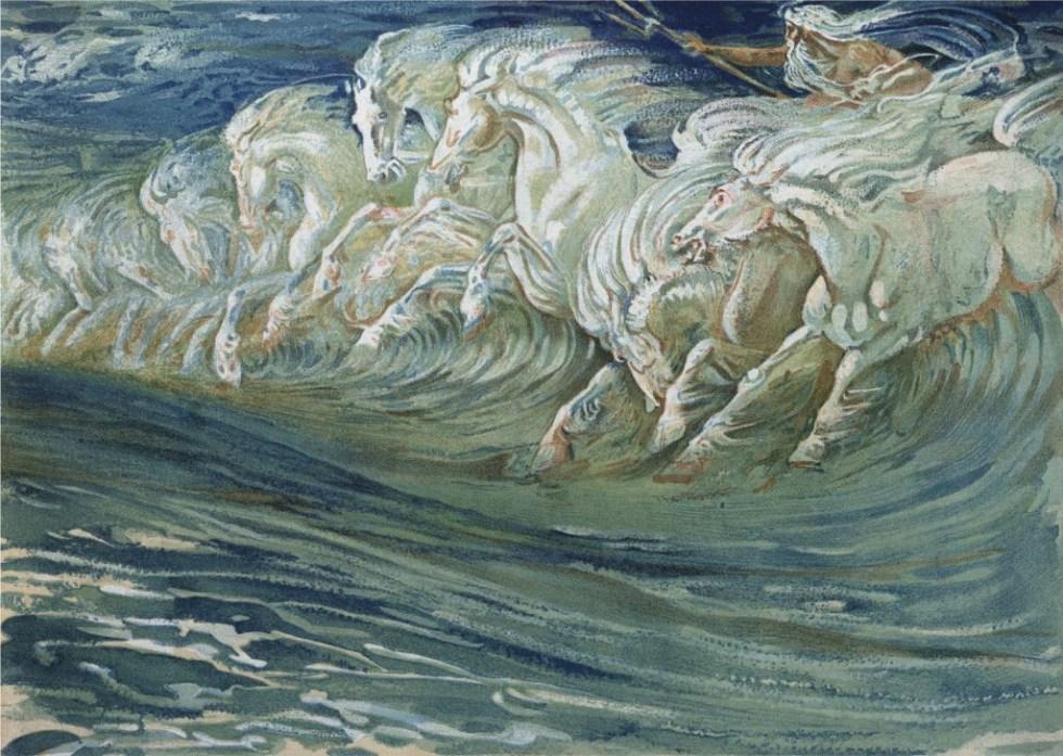 Walter Crane's 'Neptune's Horses'.
