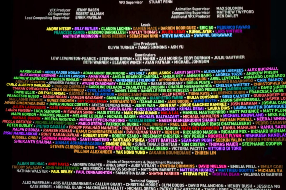 VFX artists you see in the credits