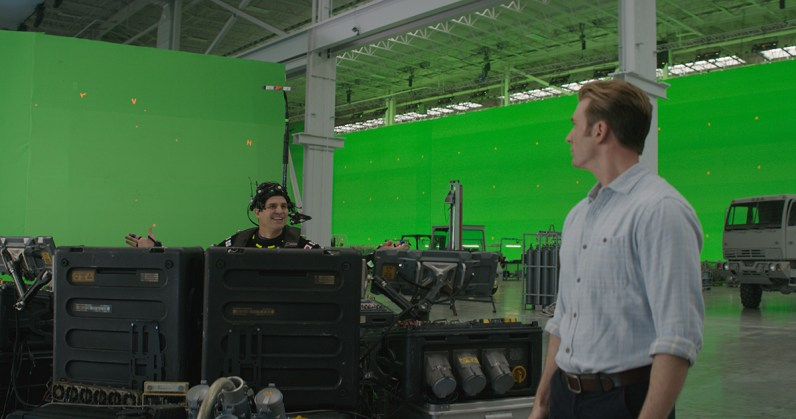 Mark Ruffalo in motion capture suit