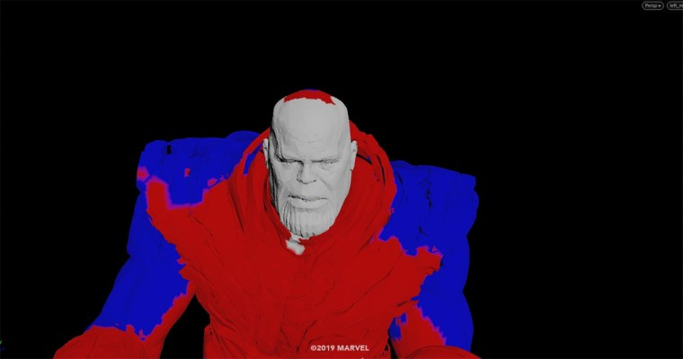Graphic patterns helped Weta Digital work out stages of Thanos' blip