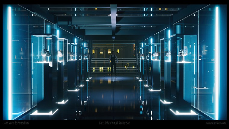 The virtual set in Unreal Engine 4