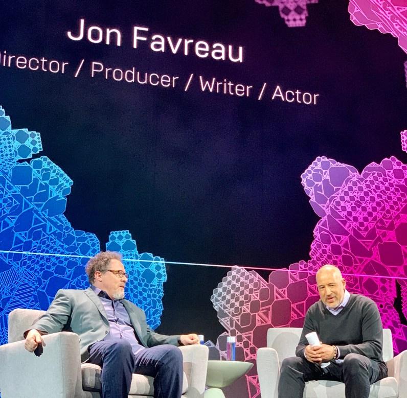 Jon Favreau with Miles Perkins