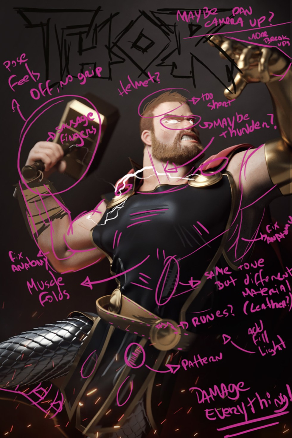 Hugo's Thor WIP