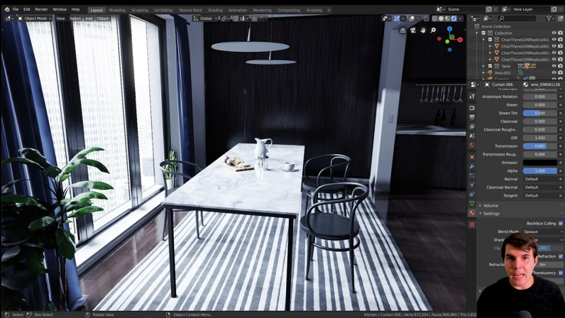 A snapshot from Price's real-time archviz tutorial