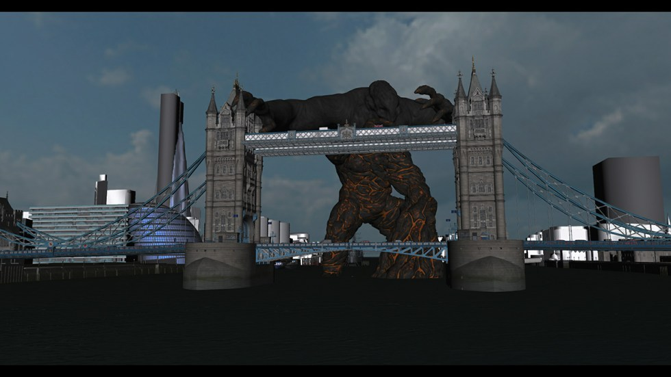 3d model of bridge scene