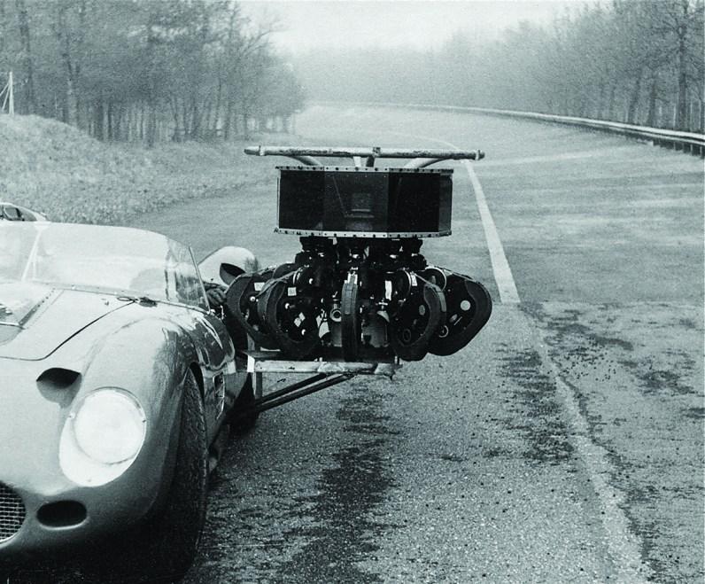 The Circarama camera on an Italian racing track.