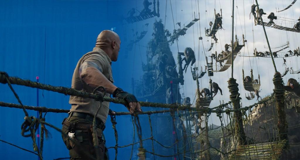 Jumanji: The Next Level bridge VFX