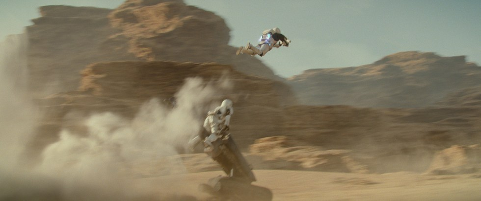 A final shot from the stormtrooper chase sequence