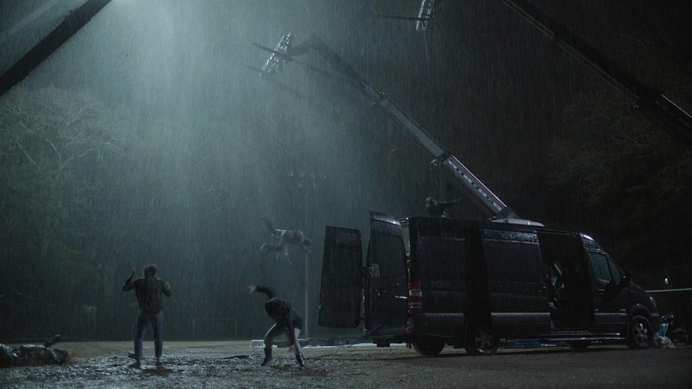 CG Shot in rain