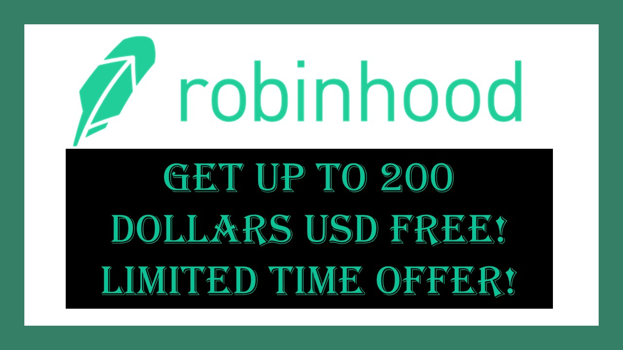 Robinhood Investing. Get Free Stocks Up to 200 Dollars. Free Money.