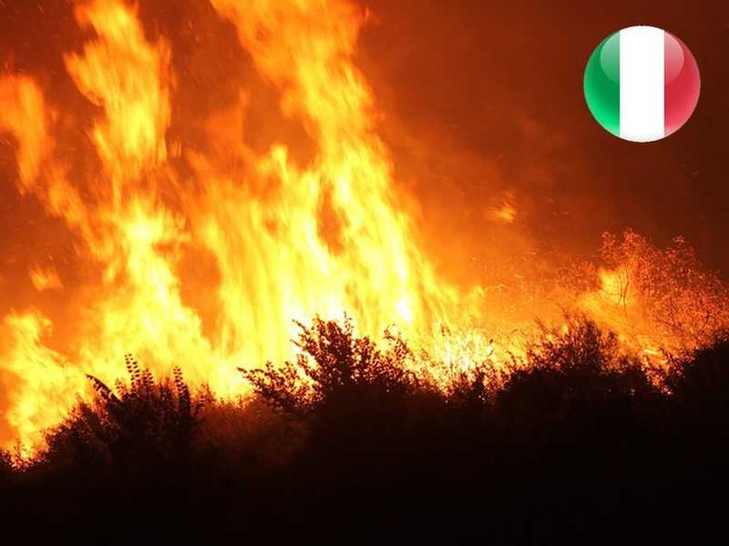5 dead in wildfires in southern Italy