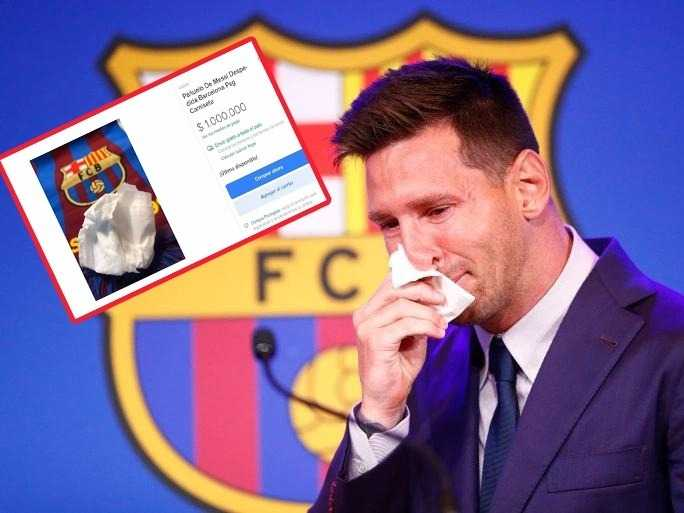 Messi's handkerchief that wiped his tears is on sale for a million dollars