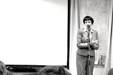 """Laura Dee Milnes hosting, as """"Miss Nilsem"""" at BBS#5"""