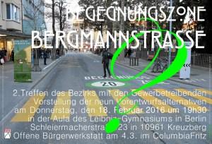 BegenungBergmann 16051 - A3-Plakat Einladung zum 18.2.16 2. Informationsveranstaltung Gewerbetreibende