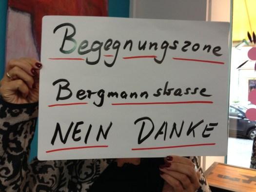 BegegnungBergmann 16085 Ursel Begegnungszone Bergmannstraße Nein Danke