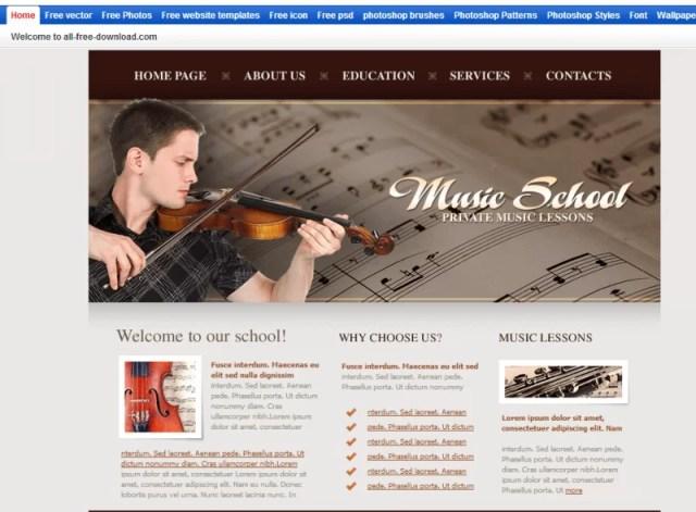 Music School Template