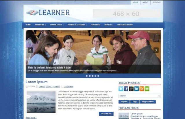Learner Free Blogger Template
