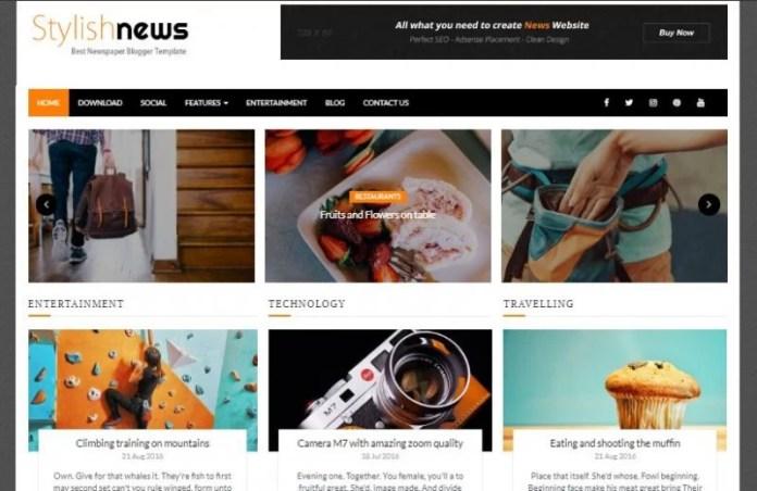 Stylish News Blogger Template