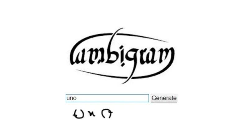 Ambigram Maker
