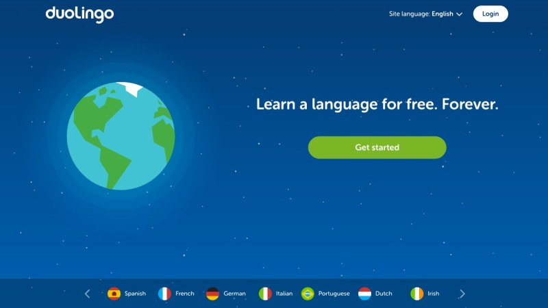 Duolingo interface