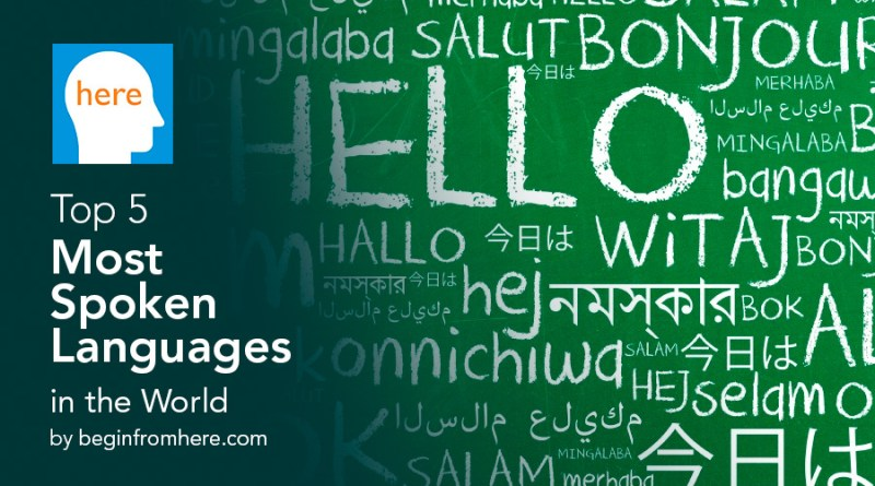 Top 5 most spoken languages in the world